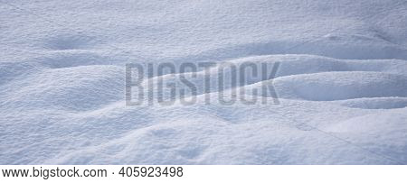 White, Clean, Fluffy  Snow, Texture Of The Fallen Snow, Winter Background