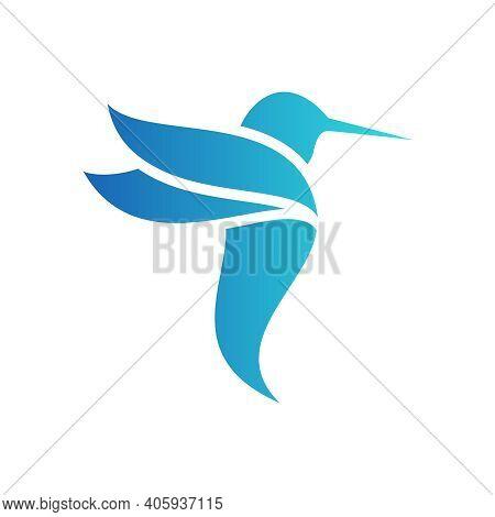 Simple Humming Bid Logo Vector For Sale
