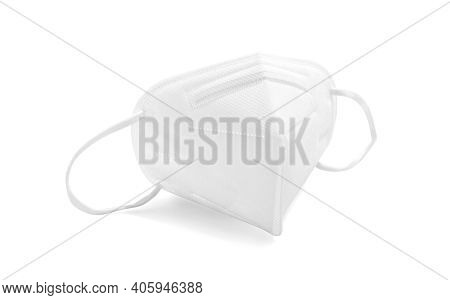 Kn95 Or N95 Face Mask For Corona Virus Or Pm 2.5 Protection Isolated On White Background With Clippi