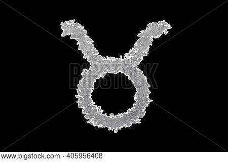 Taurus Zodiac Sign, Bull Horoscope Symbol, With Clipping Path