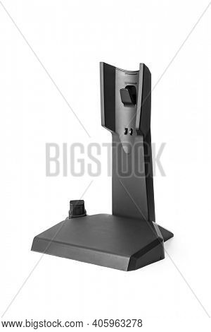 Charging holder for cordless handheld vacuum cleaner isolated on white background