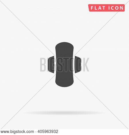 Sanitary Napkin Flat Vector Icon. Hand Drawn Style Design Illustrations.