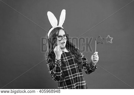 Traditional Party Activities. Smart Bunny. Eyewear Booth Props. Little Cute Bunny. Having Fun. Girl