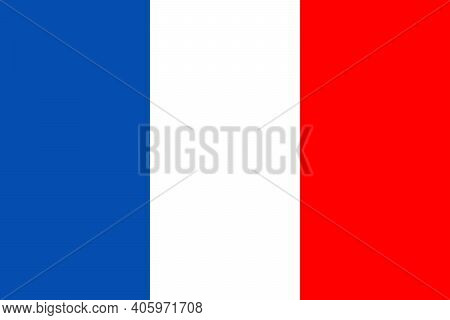 France Flag. Icon Of French. Button For National Symbol. Glossy Badge Of Country Of France. Paris St
