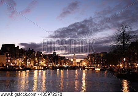 Evening View Of The Munttoren (
