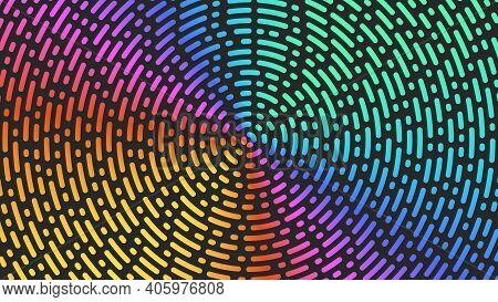 Circles Lines Pattern Bright Gradient Broken Ripples Trend Background, Diverging Circular Streaks.