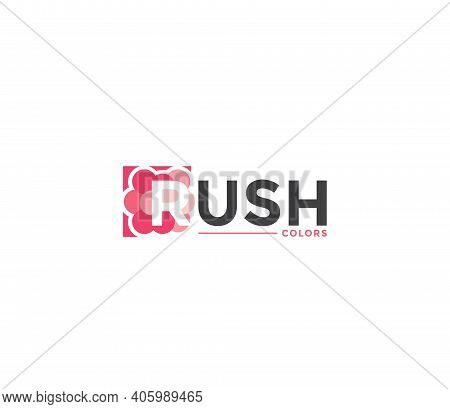 Rush Colors Company Business Modern Name Concept
