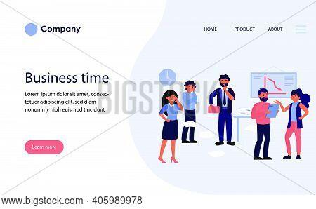 Business Team Leader Keeping Silence. Boss Showing Shh Gesture Flat Vector Illustration. Secret, Tea