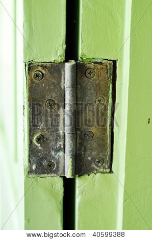 Door Hasp Rust Green Old Retro