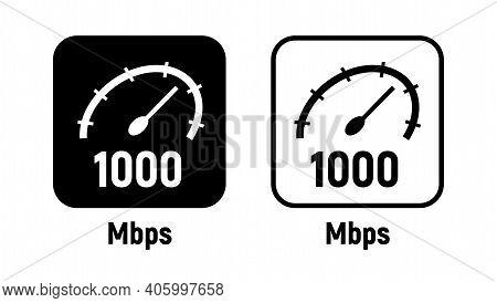 1000 Mbps Data Internet Symbol Digital Icon Broadband