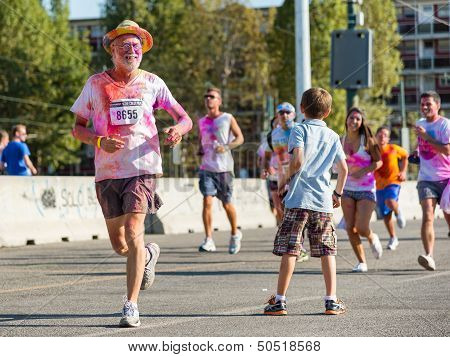 People At The Color Run 2013 In Milan, Italy