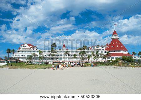 Victorian Hotel Del Coronado In San Diego