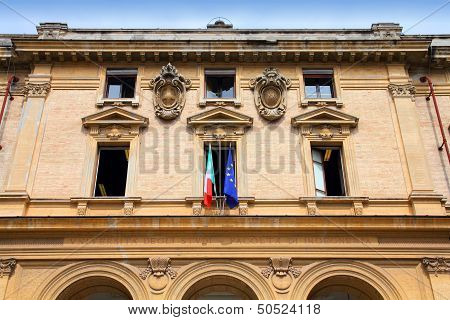 Rome Italy - old Engineering College building of the Sapienza University the largest European university. poster