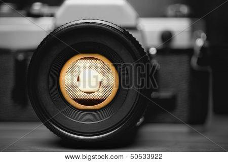 Old Film Camera Closeup