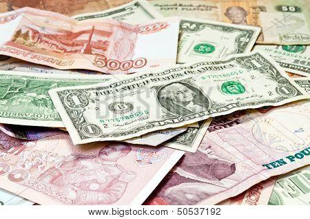World Paper Money background