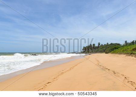 Sri Lanka. West Coast. The Coastline Of Beaches.