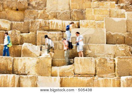 Walking On Pyramid