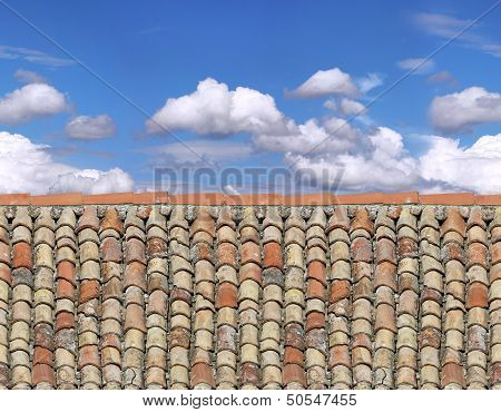 Old Roof And Sky