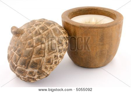 Scented Acorn Candle