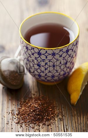cup of red tea (rooibos)