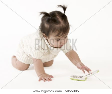 Baby Crawling To Phone