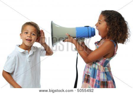 Girl Screaming At Boy