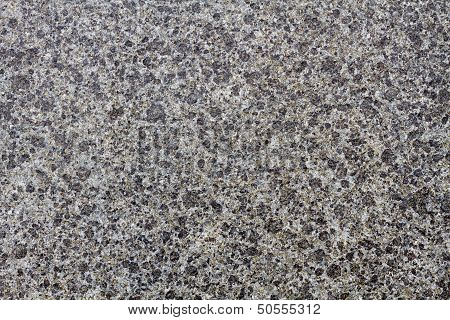 Stone Plate In Shiny Black And White Grain
