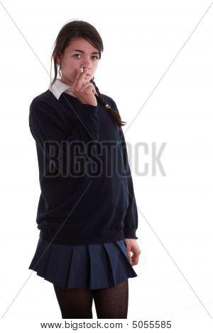 School Girl Smoking A Cigarette