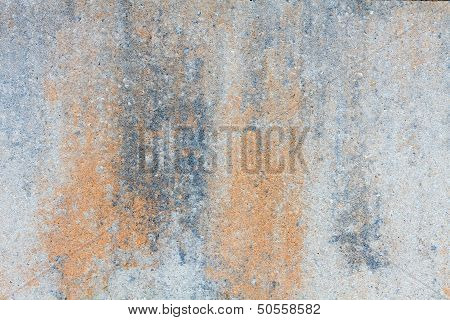 Stone Plate In Brown Grey And White With Grain