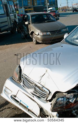 Car Accident On Street