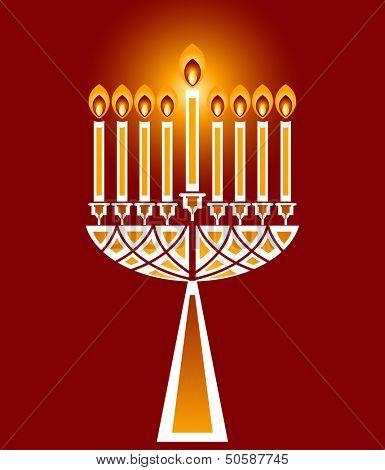 Hanukkah candles no  transparencies
