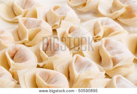 Homemade chinese dumpling