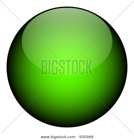 a green orb - it works as a great planet, button, or other art element. poster