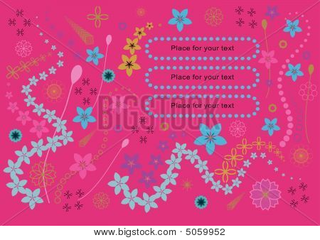 Abstract floral background with place for your text poster