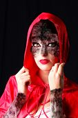 Little Red Riding Hood, who is also a wolf poster