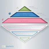 Infographics design with triangle. This is file of EPS10 format. poster
