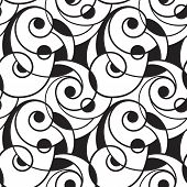 Vector Seamless Abstract Monochrome Pattern seamless pattern in swatch menu poster