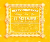 Christmas typographic label for Xmas and New Year holidays design. Calligraphic vector Decoration. poster