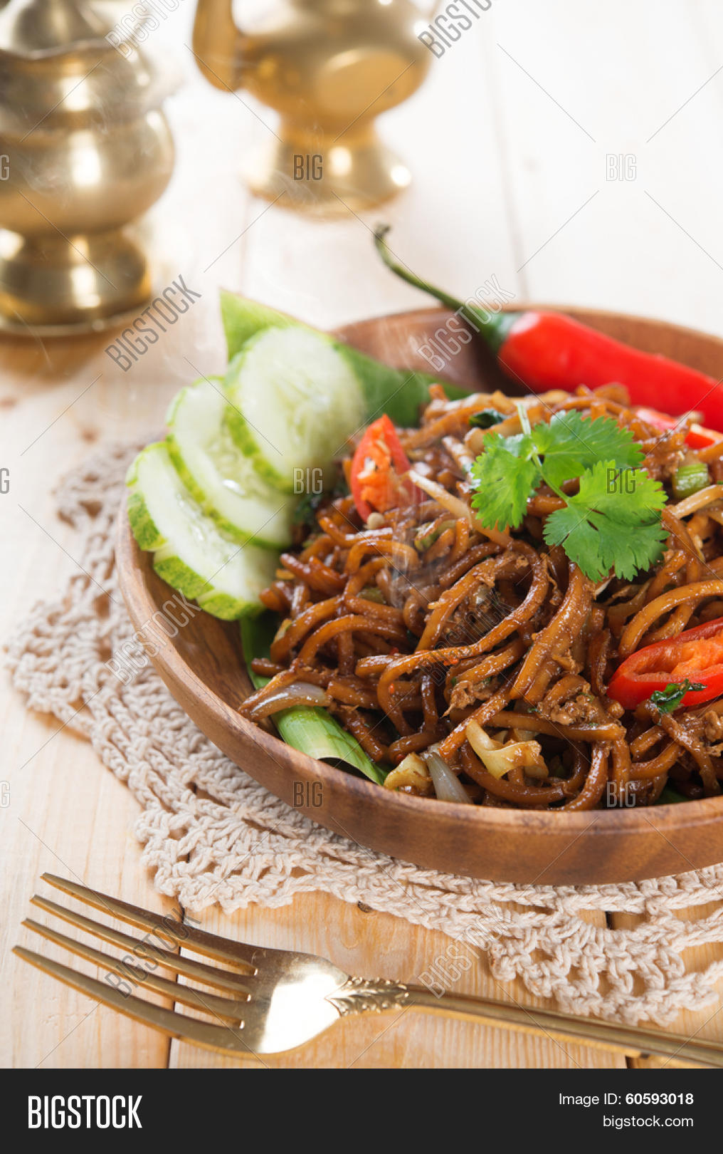 Indonesian and Malaysian cuisine mi goreng or mee goreng mamak with & Spicy Fried Noodles. Indonesian Image u0026 Photo | Bigstock