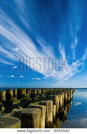 Blue Sky Over The Waterbreak