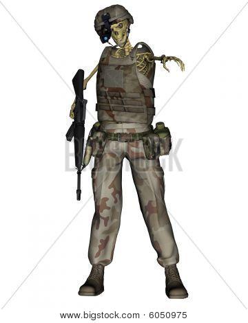 Undead Desert Soldier Skeleton