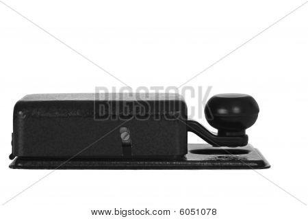 Morse key isolated on white