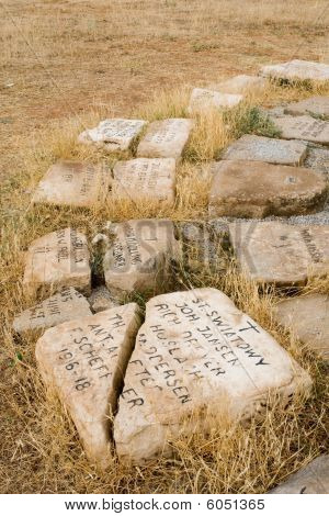 Destroyed German Military cemetary of the WWI in Prilep