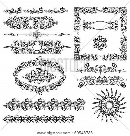 Vector set,black