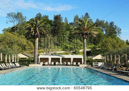 Pool at Solage Calistoga Resort in Calistoga, California