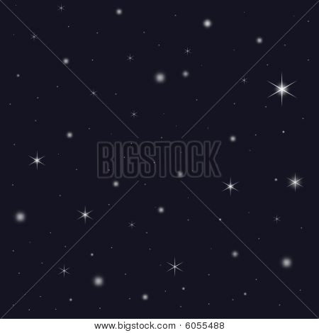 Star Filled Snowy Night Sky
