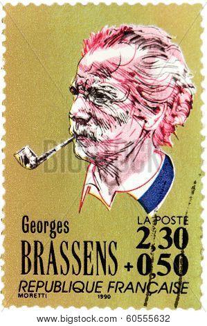 Georges Brassens Stamp