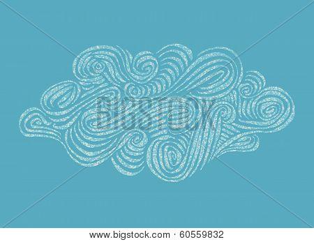 Ornament hand-drawn Cloud illustration
