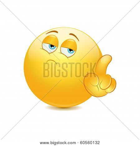 Emoticon saying no with his finger