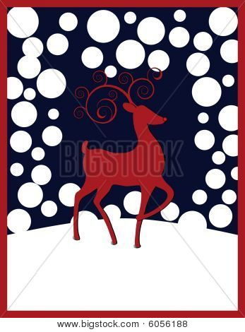 the Red-nosed Reindeer Christmas Background